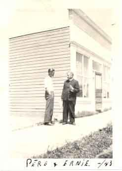 Father Athol Murray with Ernie Franks
