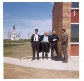 Al Ritchie, Father Athol Murray, Father David Bauer and Jackie McLeod