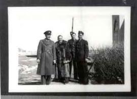 Father Athol Murray with servicemen