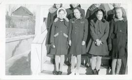A Group of Girls in Front of The United Church