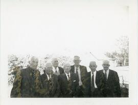 A Group of Men in Biggar, Saskatchewan