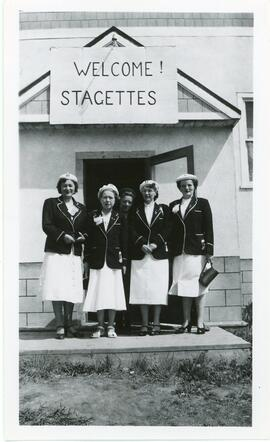 Five Women In Front OF Stagette Club