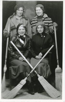 A Women's Curling Team in Biggar, Saskatchewan