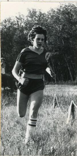 A Cross Country Team Member in Biggar, Saskatchewan