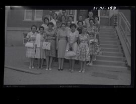 1950 Teachers On School Steps