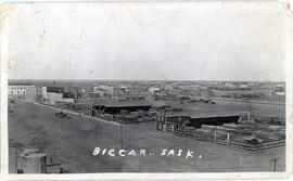 Aerial view of Biggar, Saskatchewan