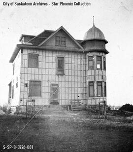 [McNab House under construction]