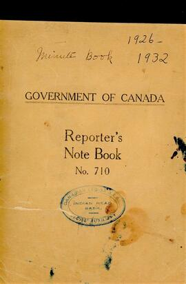 Royal Canadian Legion Ladies Auxiliary Minute Book 1926 - 1932
