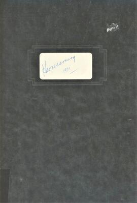 1971 Homecoming Committee Minutes and Other Records