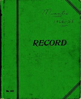 Royal Canadian Legion Ladies Auxiliary Minute Book 1955 - 1958