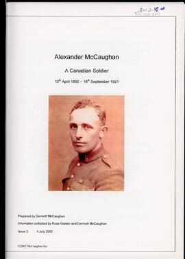 Alexander McCaughan: A Canadian Soldier
