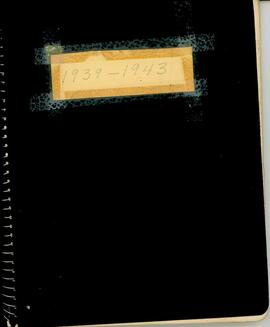 Royal Canadian Legion Ladies Auxiliary Minute Book 1939 - 1943