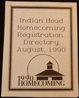 Indian Head Homecoming Registration Directory August 1990