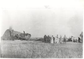 Threshing at John Carlson's farm