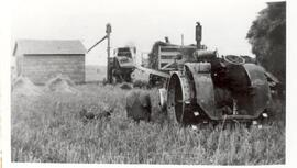 Threshing time at John Carlson's Farm