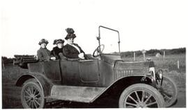 Three women in a car