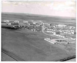 Aerial view of Canadian Forces Base, Moose Jaw, Saskatchewan