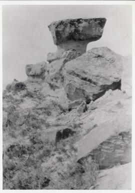 The rock formation that gave Rockglen, Saskatchewan its name.