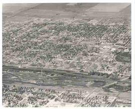 Aerial view of Moose Jaw, Saskatchewan