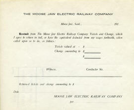 Moose Jaw Electric Railway fonds