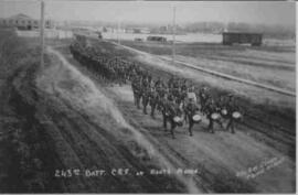 243rd Battalion Canadian Expeditionary Force marching