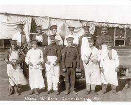 Cooks, 46th Battalion, Camp Sewell, 1915