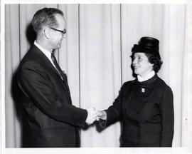 Fern Foster and Dr. R. B. Howsam