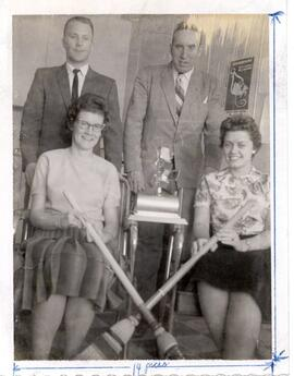 Chuck Tolley and his Eatonia rink - Kindersley Bonspiel Winners