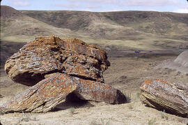 Rock formation in the Cypress Hills area